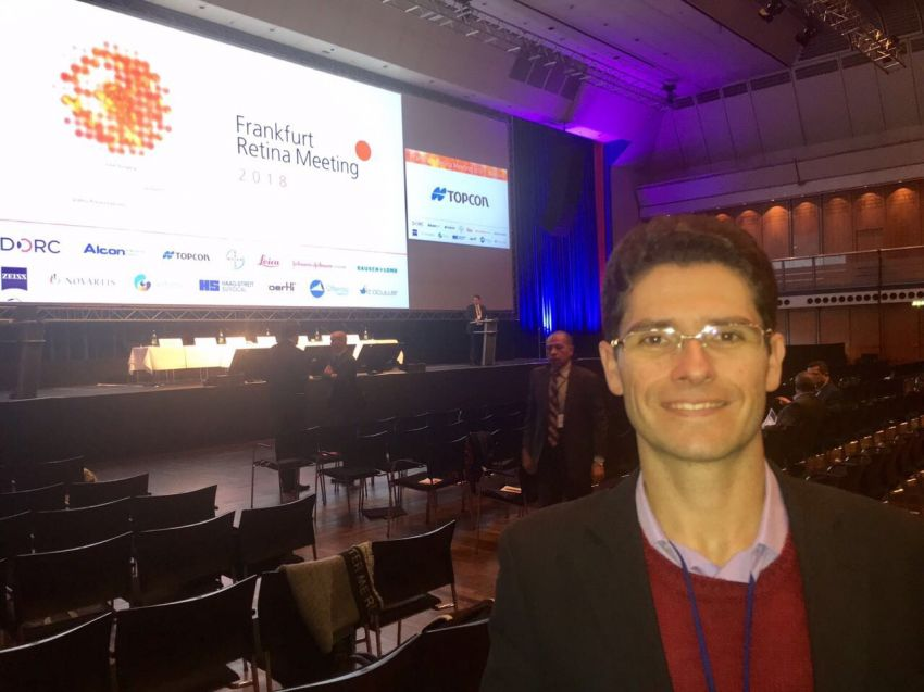 "Gustavo Melo participa do ""Frankfurt Retina Meeting"""